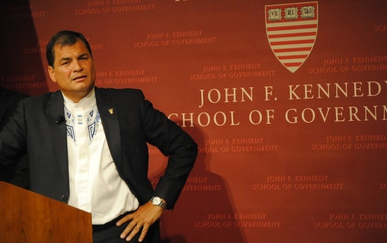 Ecuador's Rafael Correa is just starting his third term, but is already thinking about a possible fourth