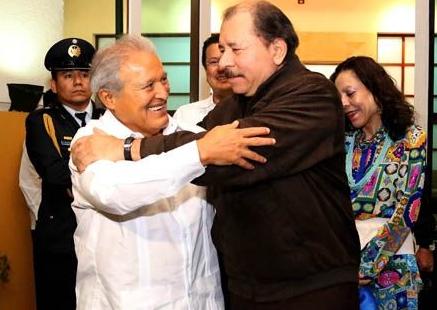 Salvador Sanchez and Daniel Ortega in Managua
