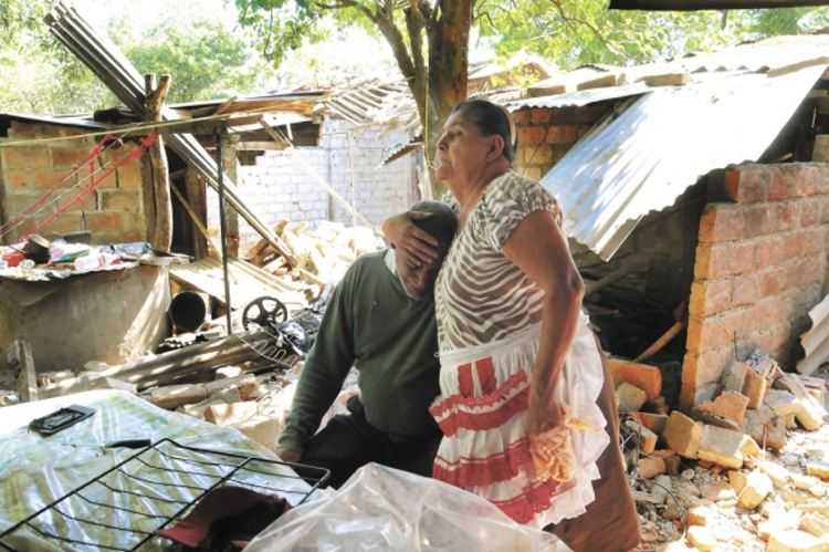 Víctor Aguilar and María Dominga Martínez lost everything. Photo: LA PRENSA/M. ESQUIVEL