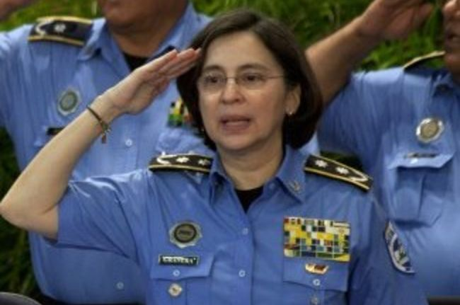 """Police leader: Nicaragua National Police Director Aminta Granera has emphasized """"community policing,"""" in which officers get to know people in the neighborhoods they protect. Nicaraguan police seized nearly 20,000 illegal firearms between 2008 and 2013. The community policing approach and the firearms seizures have helped improve public safety. [Photo: Archive / AFP /Nicolas Garcia]"""