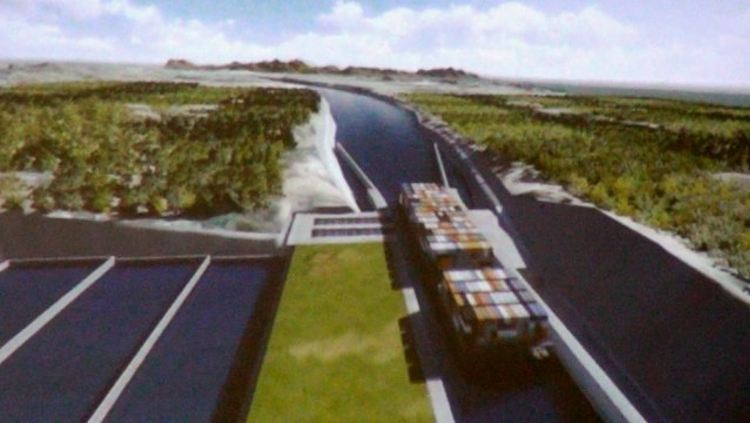 Rendering of the Nicaragua canal
