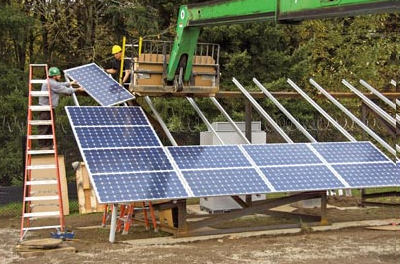 solar array construction elp