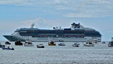Cruise ship in San Juan Del Sur, Nicaragua