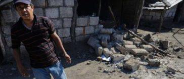 Surveying the damage in Mira Lagos, en La Paz Centro.