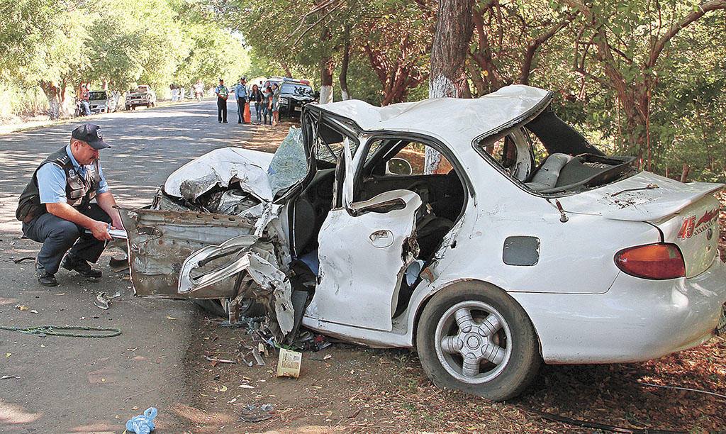 traffic accident Driver's motor vehicle accident report  example: assume the car you were  driving collided with a bicycle  example diagram: intersection-related accident.