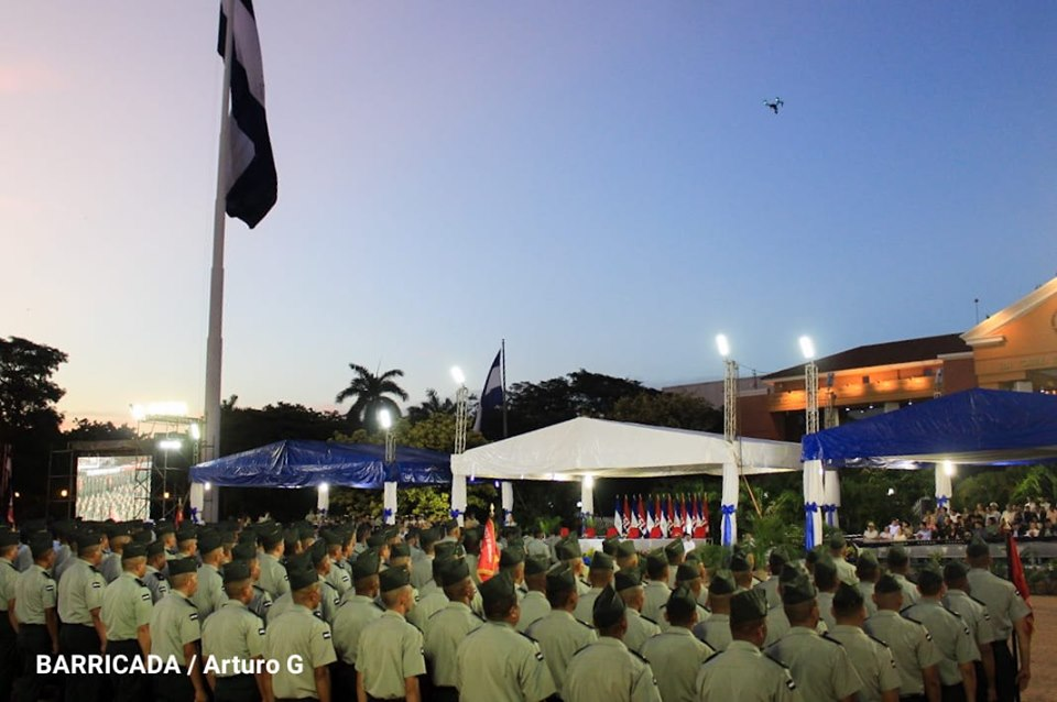 Photos of the Central Act of the 40th Anniversary of the Constitution of the Army of Nicaragua